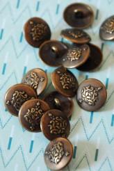 55-B1210 24L Oxy Brass Shank Button