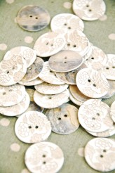 63-54461 36L White Lasered Shell Button x 1
