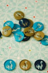 63-65561 24L Navy Dinosaur Button  x 1  Limited Stock