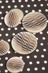 63-A6131 Zebra Printed Polyester Button