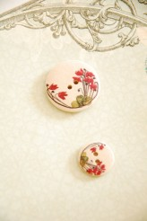 63-A7261 Printed Polyester Buttons x 1