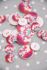 63-A9041 Printed Polyester Buttons x 1