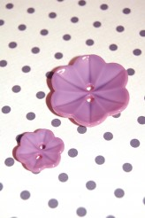 63-S4322 Imitation Ceramic Flower Button Col. D Pink