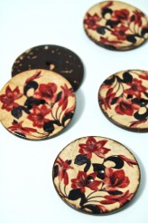 70-1088A 64L Printed Coconut Button x 3