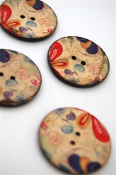 70-1119A 64L Printed Coconut Button x 3