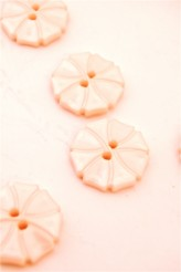 70-1572S  Soft Pink Art Deco Flower Button x 1