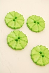 70-1572S  Lime Art Deco Flower Button x 1
