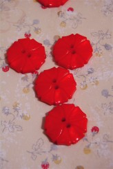 70-1572S Hot Pink Art Deco Flower Button x 1