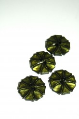 70-1572S  Olive Art Deco Flower Button