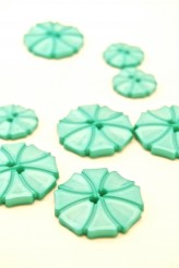 70-1572S Turquoise Art Deco Flower Button x 1