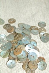 Agoya Shell 18L Natural Shell Button x 100pcs