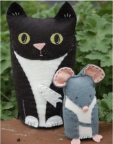 Black Cat & Mouse Felt Kit