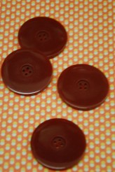 Burgundy Coat Button x 1