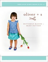 Oliver + S Butterfly Blouse and Skirt Sewing Pattern