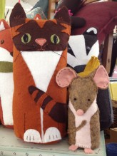 Tabby Cat & Mouse Felt Kit