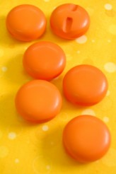 Round Orange Button!  29mm x 1
