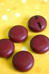 Round Burgundy Button!  29mm x 1