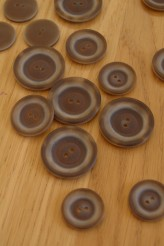 Brown Coat Button - 2 hole 36L/ 23mm