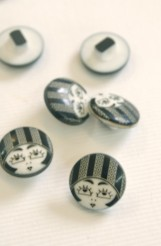 Flapper Girl Buttons