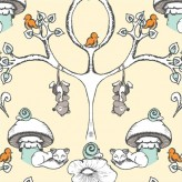 FOREST WALLPAPER -Scamper - Birch Organic Fabrics x 1 metre