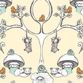 FOREST WALLPAPER -Scamper - Birch Organic Fabrics x 1 metre