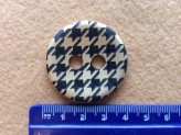 60L Gold/Black Dog Tooth Button
