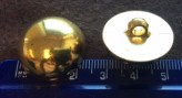 17-1009 Gold Military Shank Button