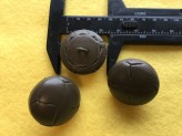 17-1024 x 3  Football Buttons - Khaki Leather