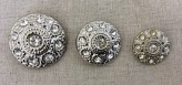 14-04043 Silver Diamante Shank Button VERY LIMITED STOCK