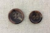 17-1013 Horn Effect Brown Button