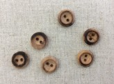 Small Wooden Button x 12