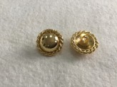 08-A882  Gold  Shank Button x 1