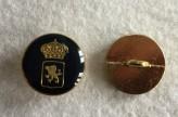 08-B1767 Gold /Black Lion Rampant and Crown  Shank Button x 1