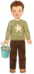 Oliver + S Sandbox Pants + Starfish Stencil Sewing Pattern 4 - 8 LAST ONE