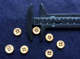 17-1068 Wood Effect Shirt Button x 10