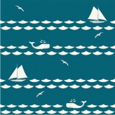SET SAIL TEAL - Set Sail - Birch Organic Fabrics  x 1 metre