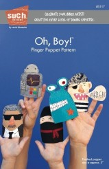 Oh, Boy! Finger Puppet Pattern - Such Designs